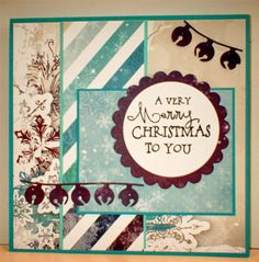 Handmade card by Splash Cards using the Merry & Bright set from Verve.  #vervestamps