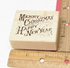 PSX MERRY CHRISTMAS & HAPPY NEW YEAR  FONT E433 RUBBER STAMP JASMINESUNSET12 #PSX #rubberstamp