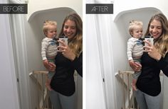 Instagram photo editing with Snapseed and VSCO A6 filter for a clean white feed - before and after | Happy Grey Lucky