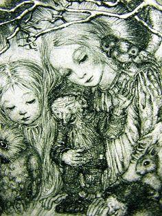 'Baby in a Bird's Nest'. 1940. Detail 3