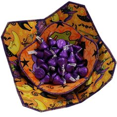 Halloween Reversible Fabric Bowls Set of Two by Sieberdesigns