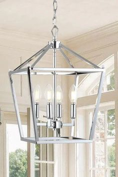 Light up the area over your kitchen table or island with this Pagoda pendant by JONATHAN Y. Lantern Pendant Lighting, Cage Pendant Light, Classic Lanterns, Metal Canopy, Home Lighting, Lighting Ideas, Home Decor Trends, Chrome