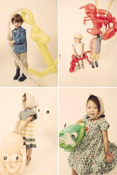 Giant balloon sea creatures for a photoshoot with Kikokids. I want someone to make a DIY for these.
