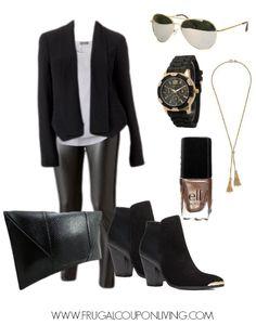 Frugal Fashion Friday Look – Themed Black Friday Outfit #blackfriday #frugalfashion #fashionFriday
