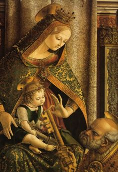 "Carlo Crivelli |  1480's late work? | Intrigued.  Tempra or  ""golden"" later work from this ""Venetian"" artist?"