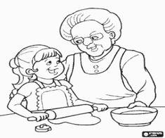 Kleurplaat Kaatje En Haar Oma 1000 Images About Thema Oma En Opa On Pinterest