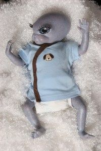 Alien Sugar Baby. Reborned by Azita Gonzalez of Cosmic Encounters Nursery.