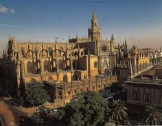 Catedral de Sevilla.  Used to walk by this everyday on my way to/from school.  Talk about a scenic route!