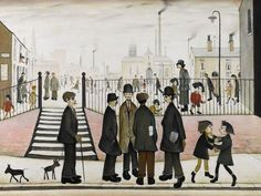 Laurence Steven Lowry, the town square Salford, Abstract Expressionism, Abstract Art, Modern Art, Contemporary Art, Punch And Judy, Spencer, English Artists, Naive Art