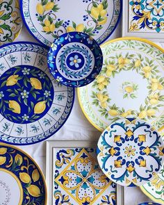 this article is not available - Mediterranean Decor Mediterranean Wall Art Mediterranean Pottery Painting, Ceramic Painting, Ceramic Art, Mediterranean Wall Decor, Mediterranean Style, Lemon Art, Italian Pottery, Decorating Small Spaces, Hand Painted Ceramics