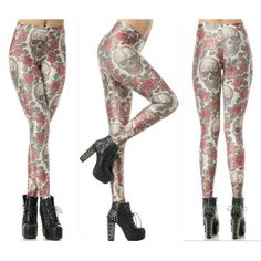 Sexy Leggings Elastic Skull BLOOD 3D Digital Printing New Popular s-4xl Size  Only $19.99 => Save up to 60% and Free Shipping => Order Now!  #print leggings outfit #dress #Fashion #girl #Digital #sport #yoga