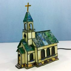 Stain Glass Church Novelty NightLight