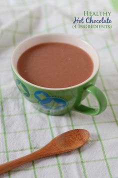 Ditch boxed hot chocolate packets! Healthy hot chocolate is just as easy and a thousand times better. This recipe uses only four primary ingredients.