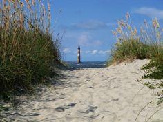 Folly Beach, SC and the Morris Island Lighthouse