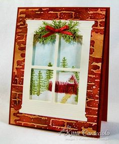 Craft a Scene Winter Window by kittie747 - Cards and Paper Crafts at Splitcoaststampers