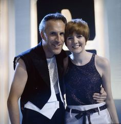 English entertainer and presenter Bruce Forsyth pictured with Cilla