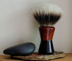 Exotic Wood Shaving Brush - Hand-Made with Water Proofed African Blackwood and…