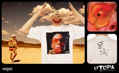 http://www.facebook.com/UtopiaLux Unusual tshirt design. #eye #tshirt #desert #bat #blow #design #lookbook #sick #funny #utopia #marihuana #joint #las #vegas #parano #drugs
