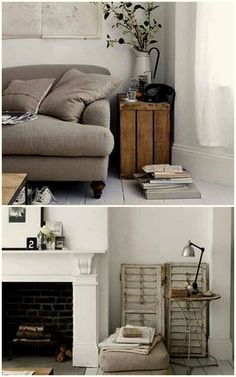 Love the old wooden boxes for home decor and furniture!