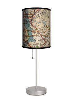 subway map lamp