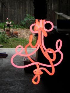 Handmade Neon Chandelier by StudioGlow