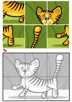 Cute Little Tiger Jigsaw Puzzle Puzzle games Preschool Learning Activities, Preschool Worksheets, Preschool Activities, Shapes Worksheet Kindergarten, Learning English For Kids, Jigsaw Puzzles For Kids, Puzzle Games, Hidden Pictures, Handmade Skirts