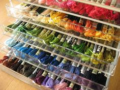 Charming Embroidery Floss Storage Containers | Rainbow In A Box By Y * Handmade, Via  Flickr
