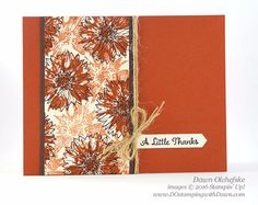 DOstamperSTARS Thursday Challenge #205: Touches of Texture - DOstamping with Dawn, Stampin' Up! Demonstrator