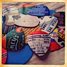 Music picks made from old credit cards and sturdy plastic containers.     Find more cool teen program ideas at  www.the4yablog.com