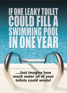 one leaking toilet could fill a swimming pool in a year #MendThatToilet @BathroomSpares