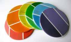 Custom Coasters // Recycled Paint Samples Coaster. $18.00, via Etsy.
