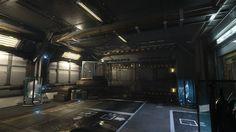 Star Citizen Lighting: SelfLand Hangar Hallway, Emre Switzer on ArtStation at…