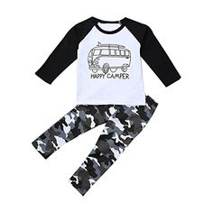 Amazon.com: Efaster® 1Set Toddler Baby Boy Long Sleeve Print T-shirt Tops+Pants Outfit Car Pattern Clothes (4T): Clothing