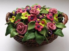 Basket with Flowers by Merrily Me, via Flickr