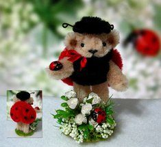 Tiny Teddies by Elke - Cute miniature pipe cleaner crafted teddies and other animals! Pipe Cleaner Projects, Pipe Cleaner Art, Pipe Cleaner Animals, Pipe Cleaners, Rainy Day Crafts, Crafts For Kids, Arts And Crafts, Lady Bug, Tiny Teddies