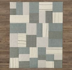 Porter Patchwork Wool Rug. Baby Boy Nursery
