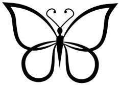 999+ Butterfly Clipart Black and White [Free Download] Cloud Clipart Butterfly clip art Butterfly outline Butterfly shape