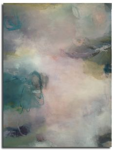 """""""The song we sing in every silence"""", a new atmospheric abstract painting by Sharon Kingston.  30 x 40 inches, oil on canvas"""