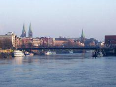 Die Weser, river through Bremen
