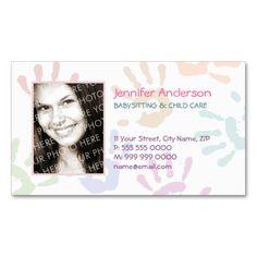 Babysitter Nanny Photo Personalized Teacher Business Card