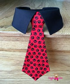 Paw Prints Dog Neck Tie or Dog Bow Tie With or Without Shirt Being Human Shirts, Dog Clothes Patterns, Red Dog, Dog Bows, Pet Clothes, Dog Clothing, Dog Bandana, Diy Stuffed Animals, Dog Accessories