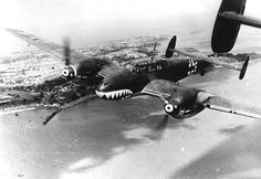 Messerschmitt Bf110 fighter of Zerstörergeschwader 76 heavy fighter squadron over the English Channel Aug 1940. These were the first fighters with the sharks mouth that inspired the RAF in Africa and the AVG in China.