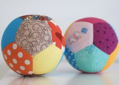 Quilted Patchwork Play Balls | AllFreeSewing.com