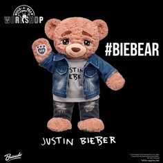 """16.7k Likes, 408 Comments - Justin Bieber Crew (@jbcrewdotcom) on Instagram: """"The new Justin Bieber bear is now available at Build A Bear! We are giving away one Biebear to mark…"""""""