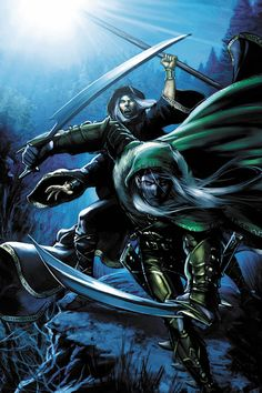 Drizzt & Raistlin. Now this is a novel I would read. (Worlds of Dungeons and Dragons by *JPRart on deviantART)