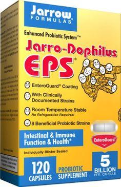 Jarrow Formulas Jarro-Dophilus Eps Travel Size Veggie Capsules, for Intestinal and Immunal Health, 5 Billion Cells Per Capsule, 15 Veggie Caps Stomach Acid, Formulas, Capsule, Healthy Tips, Travel Size Products, Veggies, Nutritional Yeast, Health