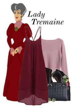 """""""Lady Tremaine"""" by xo-kallio ❤ liked on Polyvore featuring Chicnova Fashion, Lipstick Queen and Anne Sisteron"""