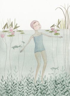 Swimming by Julianna Swaney, via Flickr