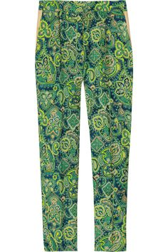 8383b2910f76 By Malene Birger - Printed silk-twill pants