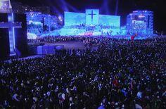 Ceremonia bienvenida en Copacabana